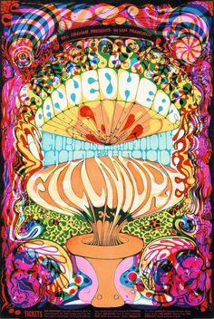Von der Muse LSD geküsst Die Nationalbank zeigt psychedelische Rock-Plakate aus San Francisco