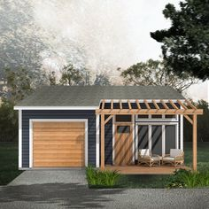 Type: One Storey laneway house Bedrooms: 1 Baths: 1 Areas: Garage: 260 sq ft Suite: 325 sq ft Width: Depth: Br House, Tiny House Cabin, Garage House, Small House Plans, House Floor Plans, Garage Studio, Garage Apartment Plans, Garage Apartments, Design Garage