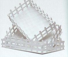 Ξύλινος φράχτης λευκός σετ 3τεμ.