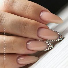 12 different nail shapes for acrylic nails: from squoval to stiletto, coffin to almond ❤ What manicure requirements will be in 2020 and what types of nail shape Cute Nails, Pretty Nails, My Nails, Oval Nails, Acrylic Nails Natural, Almond Shape Nails, Nails Shape, Long Almond Nails, Natural Almond Nails