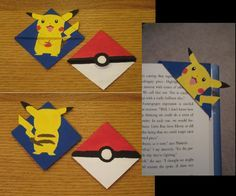 Pikachu & Pokeball corner bookmarks! #pokemon