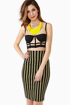 Jean Paul Gaultier Pinstripe Skirt