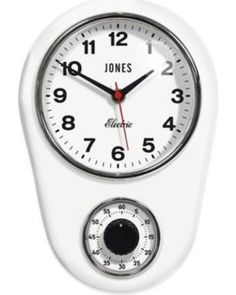 Jones Clocks Jones Clocks Timer Wall Clock In White 10""