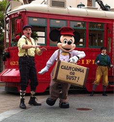 Mickey joins the Red Car News Boys