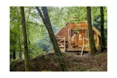 The wood cabins of Les Cabanes de Rensiwez in the Belgian Ardennes are so beautiful, you will never want to leave. Camping Places, Camping Glamping, Great Places, Places To Visit, Ardennes, Wanderlust, Going On Holiday, Cabins In The Woods, Staycation