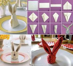 Something fun for Easter to do. A rabbit for table decor. Your guests will love it