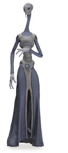 Kaminoan are a race of tall necked aliens from the star ...