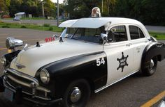LOVE this vintage police car via @1fridayatatime blog