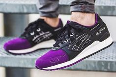 "The Asics Gel Lyte III ""50/50"" Pack offers a premium look and materials, offering a nice blend of violet and black."