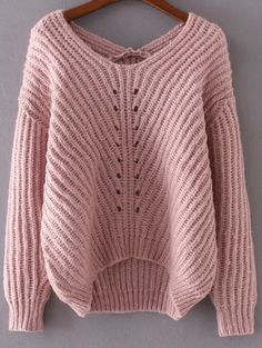 $26.99 for Hollow Out V Neck Sweater