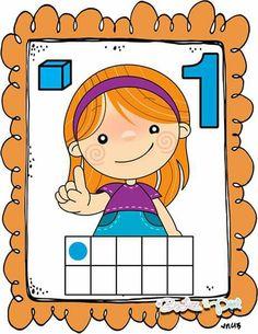Preschool Decor, Preschool Math, Teaching Math, Math Games, Math Activities, Material Didático, Free Kindergarten Worksheets, Learning Numbers, Math For Kids