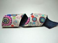 Camera Strap Cover in Kawinkydink with Navy Blue Minky. $18.00, via Etsy.