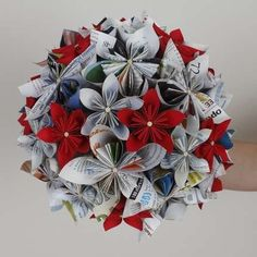 One could indefinitely keep a bouquet if it was made of paper, like book pages and maps