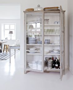 Repurpose an old cabinet, bookshelf or armoire.the possibilities are endless. Furniture, Kitchen Interior, House Design, Interior, Home, Dining Furniture, House Interior, Home Deco, Kitchen Dresser