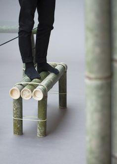 Details we like / stefan diez / soba bamboo bench / japan creative / at designboom Bamboo Furniture, Furniture For You, Cool Furniture, Furniture Design, Furniture Ads, Street Furniture, Furniture Stores, Furniture Depot, Furniture Buyers