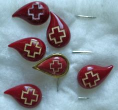 blood donor lapel pins.