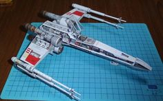 3D Paper Model Star Wars X WING X Fighter Airplane DIY Handmade Toy #PHOTIPONG