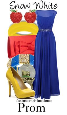 Snow White fandom fashion. Freakin' adorable! Too bad my prom days are done.  :(