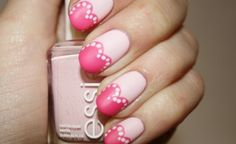 polishyoupretty:    Pretty In Pink  Click the photo to read the full tutorial from Polish You Pretty!