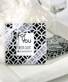Black and White Geometric Pattern Photo Coaster Sets