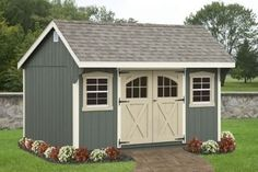Shed Plans - Backyard Shed- the one we are building this spring will be very similar to this! Now You Can Build ANY Shed In A Weekend Even If You've Zero Woodworking Experience! Backyard Storage, Outdoor Storage Sheds, Outdoor Sheds, Storage Shed Landscaping Ideas, Landscaping Work, Landscaping Software, Pool Shed, Backyard Sheds, Diy Shed Plans