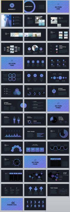 43+ Black Business chart PowerPoint Presentations template