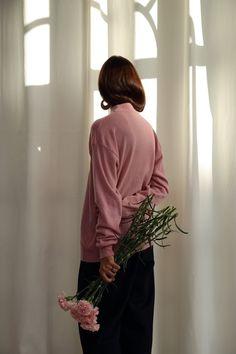 Image of Pink mock neck