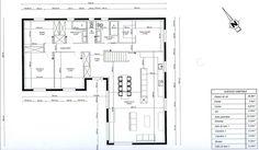 """Photo """"plan de maison en L . 3 chambres 1 bureau"""""""