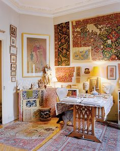 Study at illustrator Pierre Le-Tan's Paris apartment. Like Father, Like Daughter - NYTimes.com
