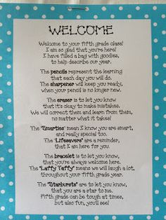 O Knows: Welcome Back Poem Filled With Goodies back to school items, diy crafts back to school, clothes back to school Back To School Poem, Beginning Of The School Year, Back To School Activities, Back To School Gifts, New School Year, First Day Of School, School Stuff, September Activities, School Survival Kits