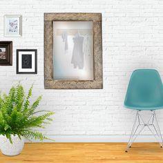 Spiegel / mirror / Holzrahmen / wooden frame