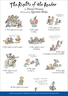 The Rights of A Reader by Daniel Pennac, illustrated by Quentin Blake