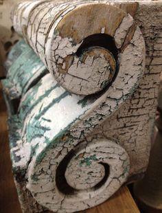 Cornice, detail Aurora Mills Architectural Salvage in Aurora, Oregon. by lilly Architectural Antiques, Architectural Elements, Salvaged Decor, Fru Fru, Old Wood, Vintage Love, Architecture Details, Decoration, Vintage Antiques