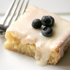 Almond Sheet Cake with an Almond Icing