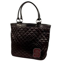 North Carolina State Wolfpack NCAA Sport Noir Quilted Tote