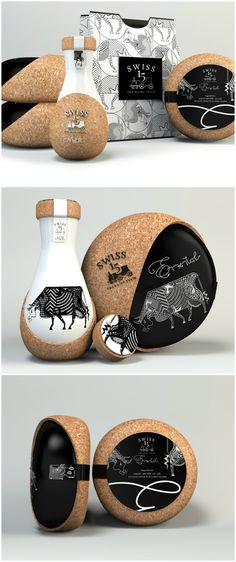 CreativeByDefinition - Swiss 15 The dairy train Milk Packaging Design ‬ Dairy Packaging, Milk Packaging, Cool Packaging, Bottle Packaging, Beauty Packaging, Brand Packaging, Design Packaging, Brand Design, Web Design