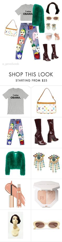 """""""Untitled #64"""" by genedweeb ❤ liked on Polyvore featuring Louis Vuitton, Di$count Universe, Marc Jacobs, Yves Saint Laurent, Betsey Johnson, Puma and Elizabeth and James"""