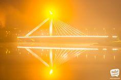 Rovaniemi Lumberjack bridge in the night mist. Finland, Mists, Bridge, Magic, Spaces, Country, Night, Rural Area, Bridge Pattern
