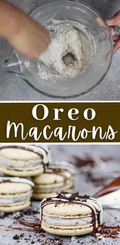 Macaron Buttercream Filling Recipe, Macaroon Filling, Oreo Filling, Oreo Buttercream, How To Make Desserts, How To Make Oreos, How To Make Macarons, Easy Desserts, Fun Baking Recipes