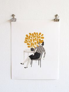 the Yellow Plant by RachelLevit on Etsy