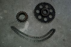 Check out this item in my Etsy shop https://www.etsy.com/listing/234059616/industrial-gears-and-chain-set-steampunk