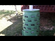 Vertical composting barrel garden
