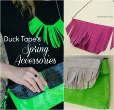 Duck Tape Spring Accessories and Upcycling  #DuckTape #shop