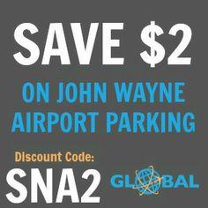 SNA John Wayne Airport Parking Coupon