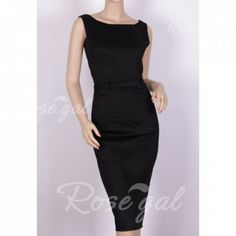 Vintage Scoop Neck Solid Color Sleeveless Knee-Length Women's Bodycon DressVintage Dresses | RoseGal.com