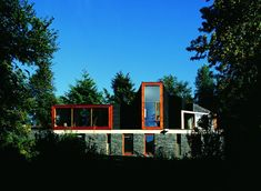 Built by Alejandro Aravena in Panguipulli, Chile with date Images by Cristobal Palma. Alejandro Aravena was selected as one of the 20 essential young architects by Icon. We were asked to design a summer. Residential Architecture, Modern Architecture, Brick And Stone, Stone Houses, Take Me Home, Built Environment, Beautiful Space, Exterior, House Styles