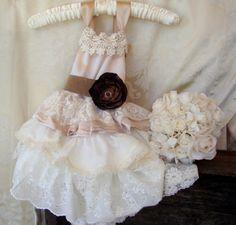 Country Western Flower Girl Dress Hopefully Romantic on Etsy