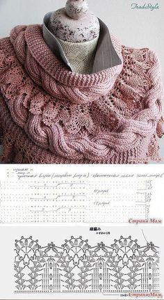 Tutoriel pour les fans de crochet qui vous permettra de réaliser votre propre foulards. Photos et explications. Foulard 1 (crochet): Foulard 2 (crochet et tricot):