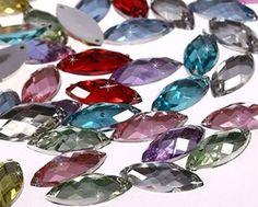 Sew On Stitch 10x Grey marble Jewel 12mm GEM CRYSTAL RHINESTONE trim DANCE