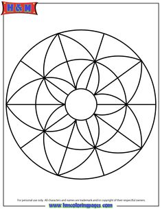 Mandalas For Kids Easy Mandala Coloring Page For Children